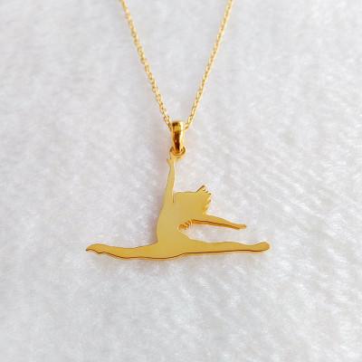 Ballet Dancer Necklace,Dancer Jumping Necklace,Dancer Jumps Necklace,Custom Celebrity Necklace,Best Gift For Girls,Christmas Gift
