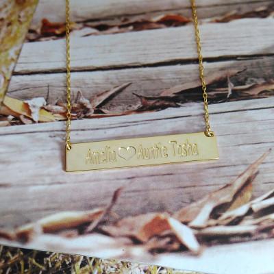Engraved Name Necklace,Best Friend Necklace,Gold Monogram Bar Necklace,Coordinates Necklace,latitude longitude Necklace,Custom Jewelry