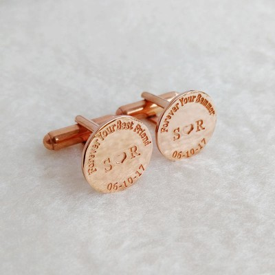 Forever Your Best Friend Cufflinks,Personalized Cufflinks,Groom Wedding Cufflinks,Date and Initials Cufflinks,Elegant Monogrammed Cufflinks