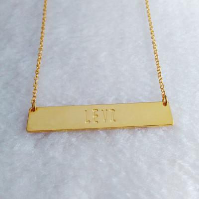 Gold Bar Necklace,Personalized Bar Necklace,Coordinates Necklace,Monogram Bar Necklace,Engraved Bar Necklace,latitude longitude jewelry