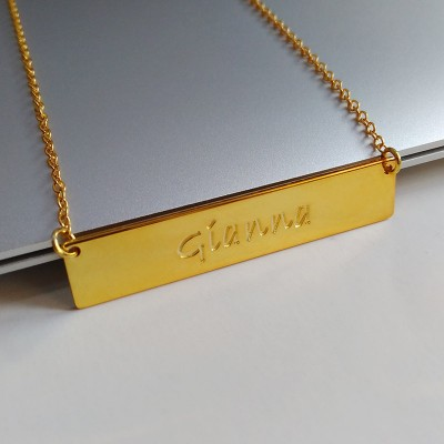 Gold Bar Necklace,Personalized Name Necklace,Coordinates Necklace,Monogram Bar Necklace,Latitude Longitude necklace,Engraved Bar Necklace