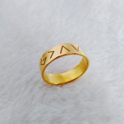 Gold Christian Ring,God Is Greater Than The Highs And Lows Ring,Engraved God Ring,Custom Specific Ring,Specific Symbols Ring,Christmas Gift
