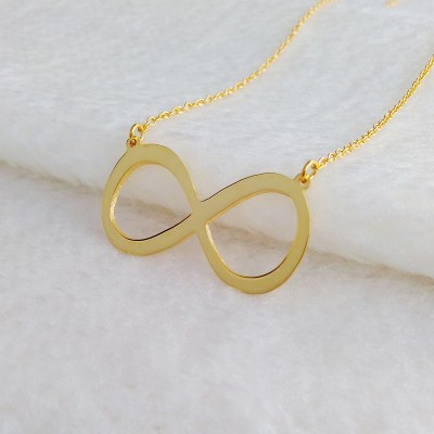 Gold Infinity Necklace,Personalized Infinity Necklace,Infinity Charm,Carrie Style Name Necklace,Custom Infinity Necklace,Christmas Gift