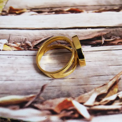 Gold Monogram Ring,3 Initial Monogram Ring,Personalized Name Ring,Nameplate ring,Engraved Monogrammed Ring,Custom Name Jewelry,Best Gift