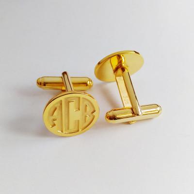 Groom Wedding Cufflinks,Gold Men CuffLinks,Engraved Monogram CuffLinks,Gift for Fathers Day,Elegant Monogrammed Cufflinks