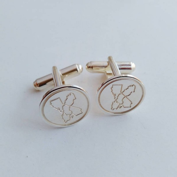 Illinois and Sweden Cufflinks,Sweden Cufflinks,Ca and Sweden Cufflinks,State Cufflinks,Cufflinks for Groom,Any State or Country Cufflinks