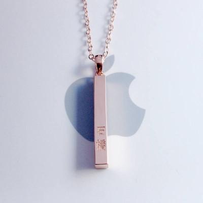 Kanji Name Necklace,Katakana Necklace,Japanese Bar Necklace,Custom Any Language Jewelry,Everyday Bar Necklace,Personalized Bridesmaid Gift