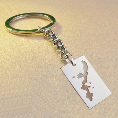 Okinawa Map shaped keychain,Personalized Map Keychain,Custom Any Country Keychain,Specific Country Or State Keychain,Worldwide Map Keychain