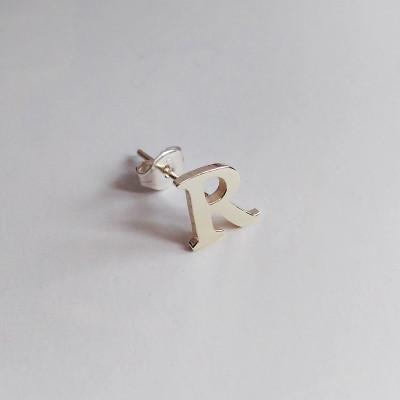 One Initial Earring,Personalized Earring,Letter Stud Earring,Number Stud Earring,Star Stud Earring,Heart Studs Earring,Initial Stud Earring