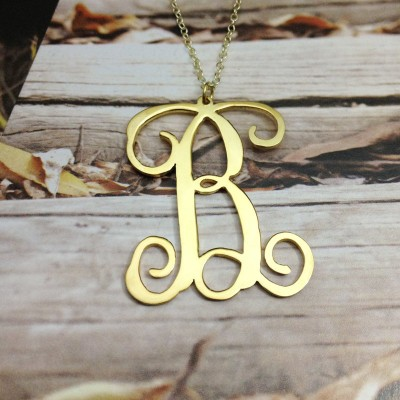 """One Letter Necklace,Single Initial Necklace,Personalized Initial Necklace,1"""" inch One Letter Necklace-%100 Handmade"""