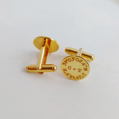 Personalized Coordinates Cufflinks,Groom Wedding Cufflinks,Custom Latitude Longitude Cufflinks,Anniversary Date Cufflinks,Groom Wedding Gift