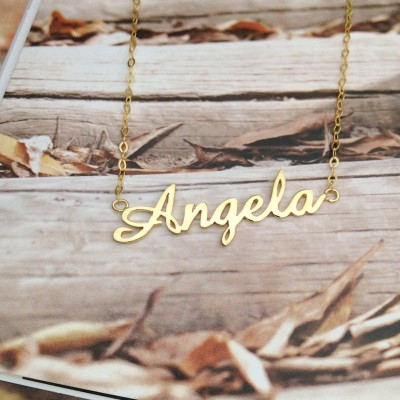 "Personalized Name Necklace,Carrie Name Necklaces,Gold Choose any name to Personalize,Name Pendant Necklace ""Sex and the City"""