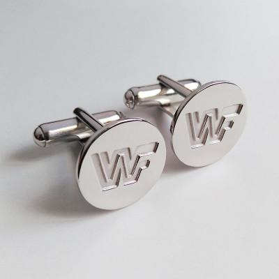 Personalized Wedding Cufflinks,Specific Groom Wedding Cufflinks,Engraved CuffLinks,Any Symbol Cufflinks,Elegant Monogrammed Cufflinks