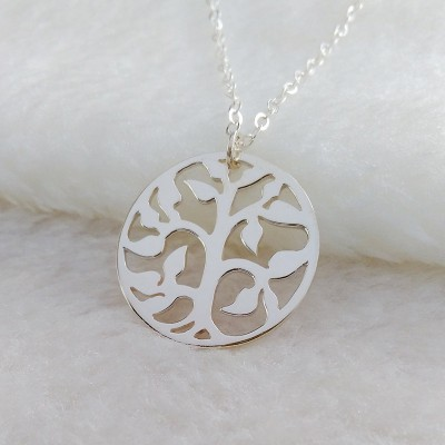Tree of Life Necklace Family Tree Necklace Tree Of Life Pendant Silver Tree Necklace Grandma Necklace Mother Necklace Custom Jewelry