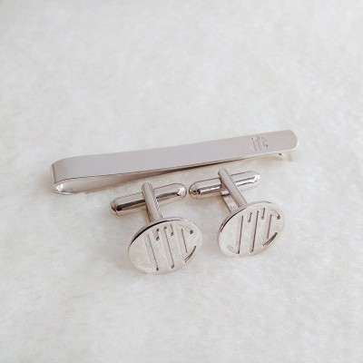 Wedding Cufflinks and Tie Clip,Mix and Match Tie Clip and Cufflinks,Monogram Cufflinks and Tie Clip,Groom Wedding Gift,Gift for Fathers Day
