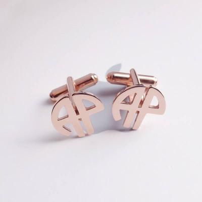 Wedding Cufflinks,Circle Initials Monogram Cufflinks,Personalized Monogram Cufflinks,Groom Wedding Cufflinks,Elegant Monogrammed Cufflinks