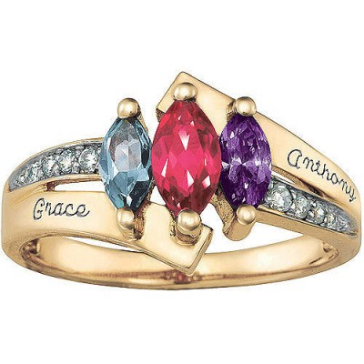 Personalized Keepsake Majestic Mother's Marquise Birthstone Ring