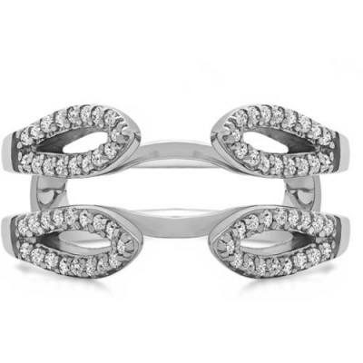 TwoBirch Personalized Cathedral Infinity Ring Guard Enhancer