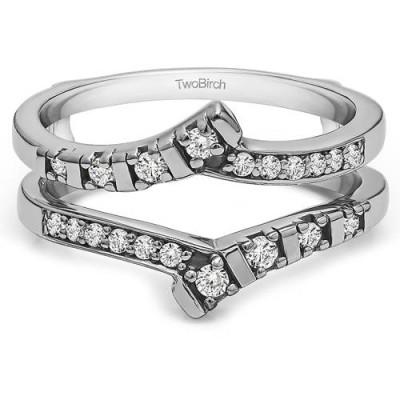 TwoBirch Personalized Bar-Set Wedding Ring Guard