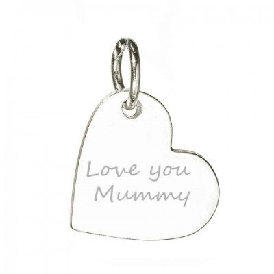 Personalised Necklaces - Hand / Footprint Heart Charm Necklace