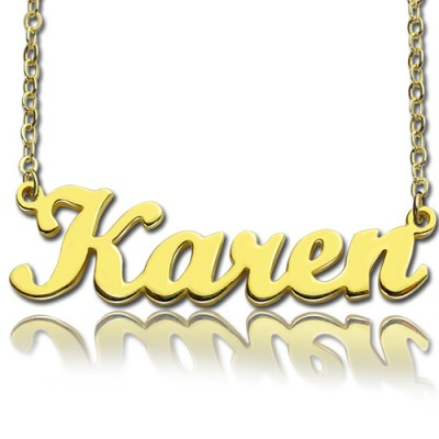 Name Necklace - Karen Style