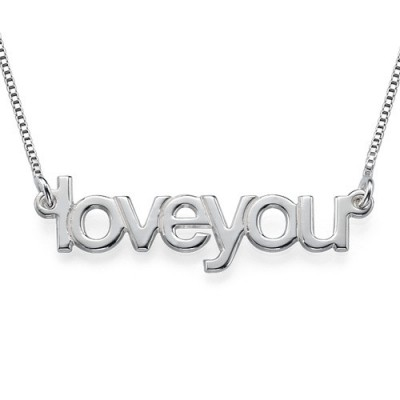 Personalised Necklaces - I Love You Necklace