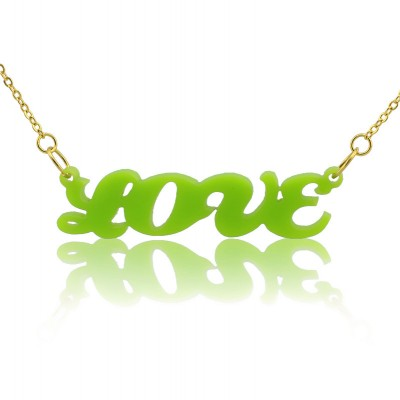 Name Necklace - Colorful Cute Acrylic for Girls