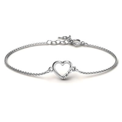Heart Ahava Personalised Bracelet