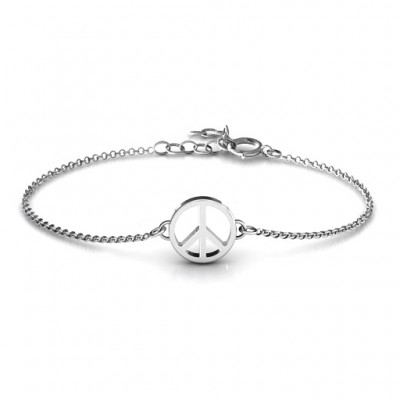 Shanti Peace Personalised Bracelet