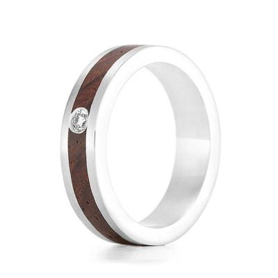Wood Ring Native Diamond