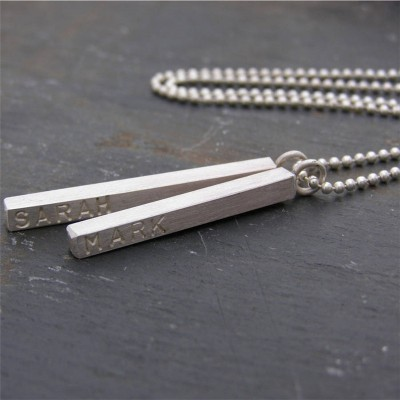 Personalised Necklaces - Satin Mens Necklace