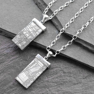 Personalised Necklaces - Tipped Meteorite Necklace